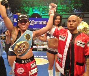 Knight with trainer Ben Bautista